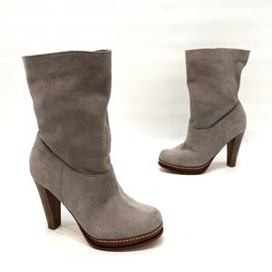 Cole Haan Nike air gray suede heel boots size 7 B